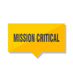 Mission critical price tag vector