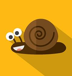Modern Flat Design Snail Icon vector image