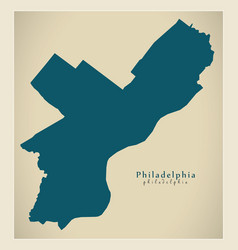 Modern map - philadelphia city of the usa vector