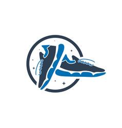 modern sneaker shoe logo vector image