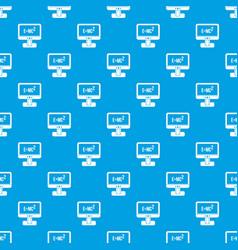 monitor with einstein formula pattern seamless vector image