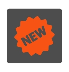 New Tag Rounded Square Button vector