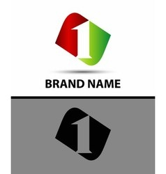 Number one logo vector