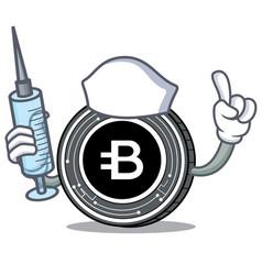 Nurse bytecoin coin character cartoon vector