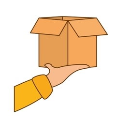 package delivery fast food icon vector image