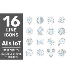 physical systems ai iiot iot cloud computing vector image