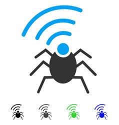 Radio spy bug flat icon vector