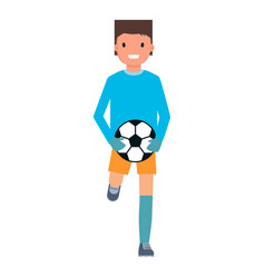 running goalkeeper icon flat style vector image