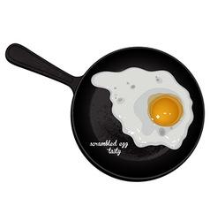Scrambled eggs tasty vector