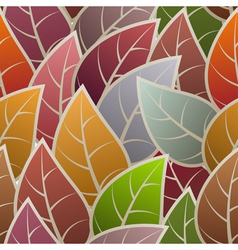 Seamless with abstract leafs vector