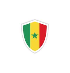 senegal flag emblem template design vector image