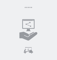 service offer - computer network - minimal icon vector image