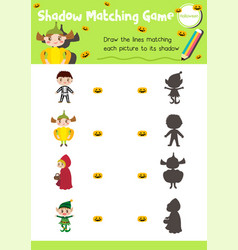 Shadow matching game halloween 7 vector