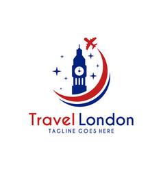 travel logo to london vector image