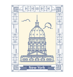 Travel new york thin line new york vector