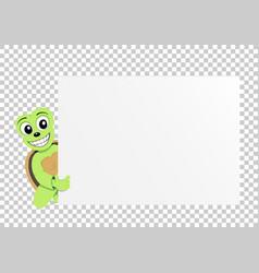 turtle paper transparent vector image