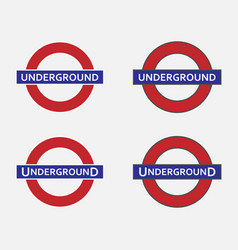 Underground station sign vector