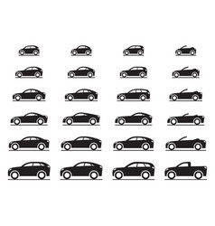 Various modern cars vector