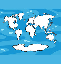 World map with land in white color vector