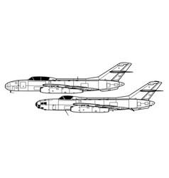 Yakovlev yak-25 flashlight a - mandrake vector