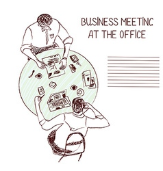 Business meeting at the office vector image vector image