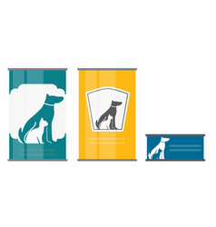 pet food can template in modern flat style icon vector image vector image