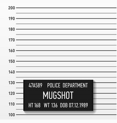 Police mugshot add a photo centimeters vector