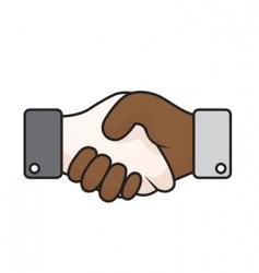 race relations handshake vector image vector image