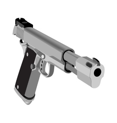 Realistic hand gun isolated on white background vector image