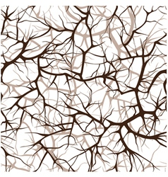 seamless pattern interlacing of branches vector image vector image