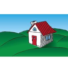 Sketch house vector