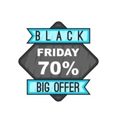 70 Black Friday sale icon cartoon style vector image vector image