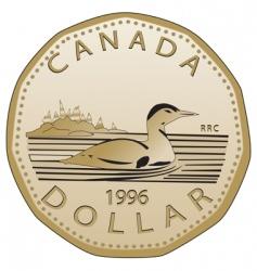 Canadian dollar vector image