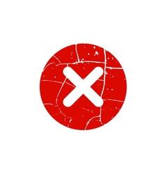 Cross red sign element vector
