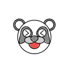 Cute panda drawing animal vector