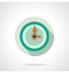 Flat color wall clock icon vector image vector image