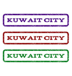 kuwait city watermark stamp vector image vector image