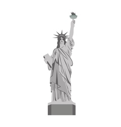 liberty statue landmark icon vector image