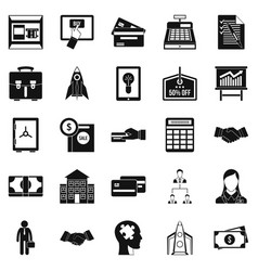 seo development icons set simple style vector image vector image