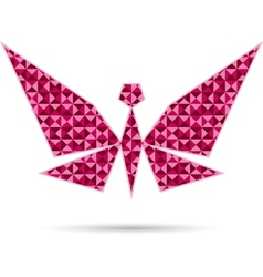 Abstract Butterfly Isolated on White vector image vector image
