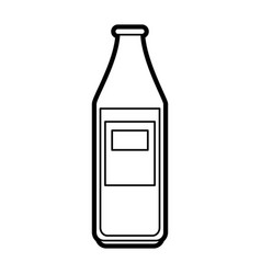 bottle with blank laber icon image vector image