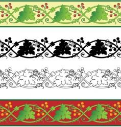 grape leaf border vector image vector image