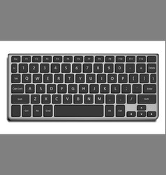 laptop keyboard letters and buttons vector image
