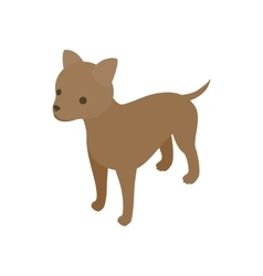 Puppy dog icon isometric 3d style vector image vector image