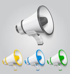 set megaphone color vector image