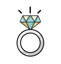 beauty wedding ring with diamond design vector image vector image