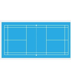 Blue badminton court vector image vector image