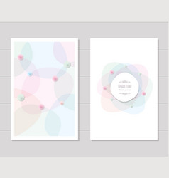card templates wedding invitation brochure cover vector image vector image