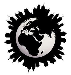 urban earth globe vector image