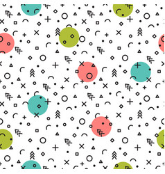 abstract geometric seamless pattern fashion vector image